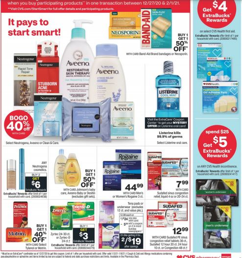 CVS Weekly Ad Preview 1/3-1/9