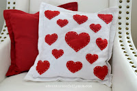 easy valentine pillow cover