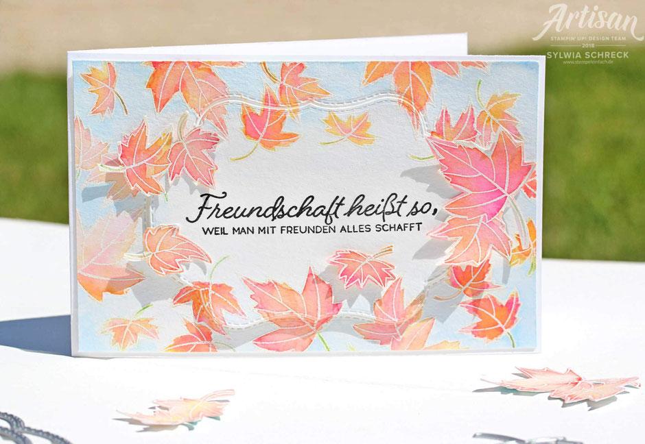 farbenfroh durchs jahr-stampin Up-aquarellkarte -sylwia schreck
