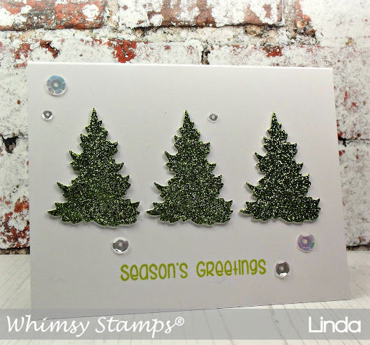 Whimsy Stamps October Release - Evergreen Trees