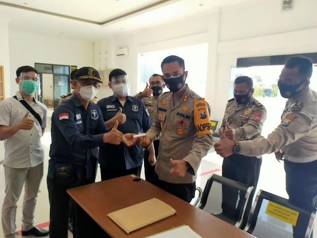 Kapolres Nganjuk Pimpin Langsung Pelaksanaan Rapid Test Terhadap Anggotanya