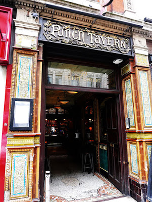 The doorway of The Punch Tavern.
