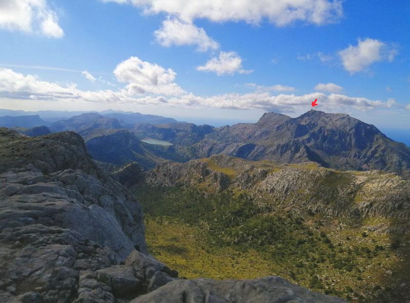 Foto: Serra de Tramuntana e el Puig Major visti dal Massanella