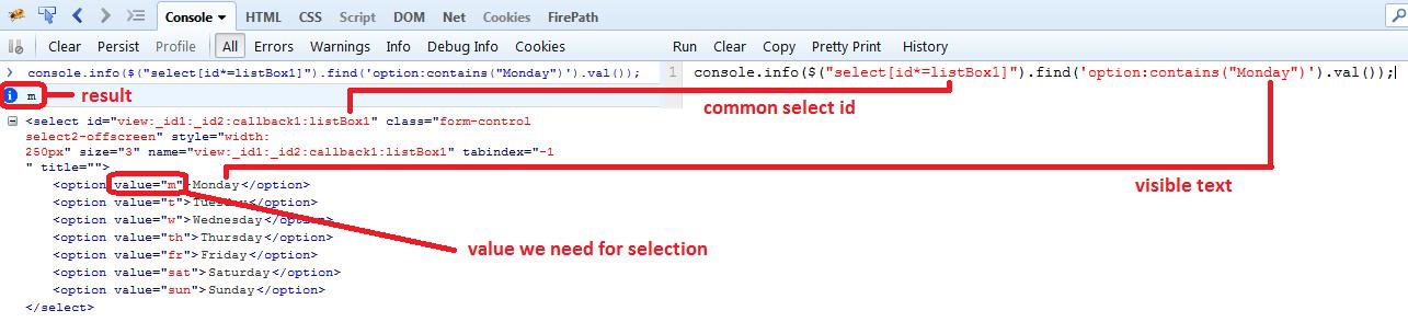 Как взаимодействовать с Select2 при помощи WebDriver - база