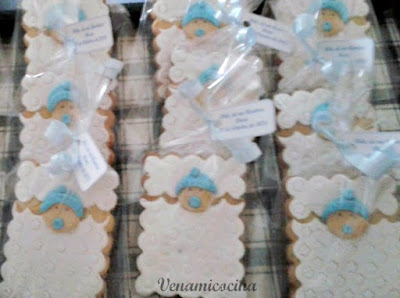 Galletas decoradas para bautizo