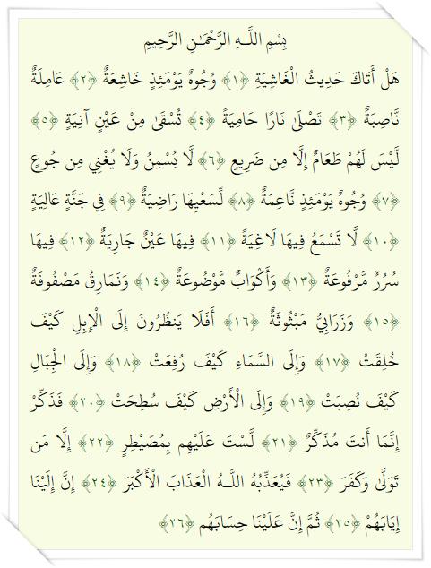 088 Al Quran : Surat Al Ghasyiyah