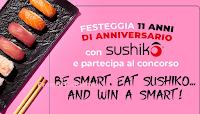 Logo Concorso Sushiko: vinci 1.000 cene, Smart Fortwo, Mi note, scooter e molto altro