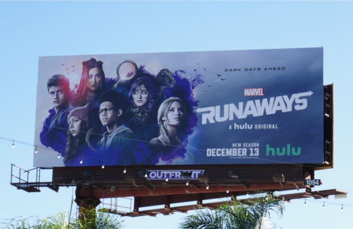 Marvel Runaways final season 3 billboard