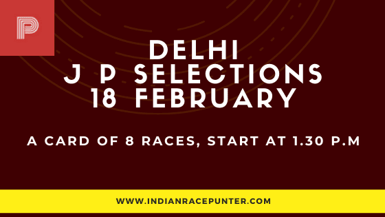 Delhi Jackpot Selections 18 February, Jackpot Selections by indianracepunter,