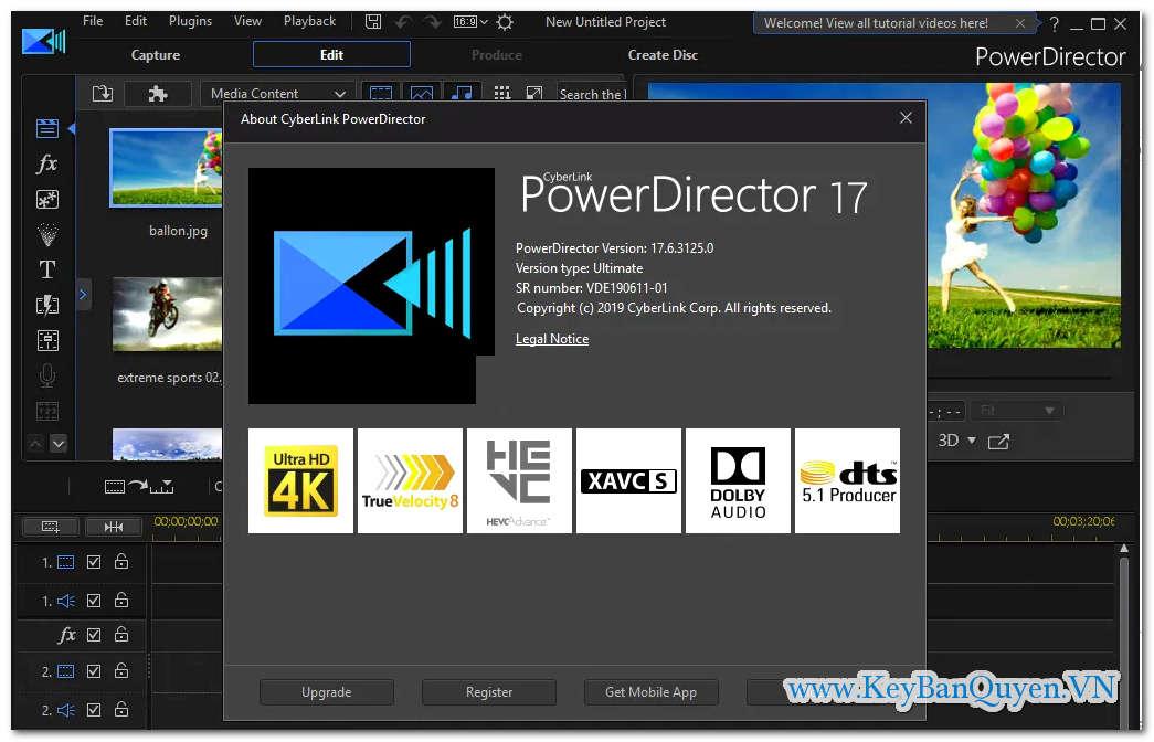 Download và cài đặt PowerDirector Ultimate 17.6.3125.0 Full Key, Phần mềm chỉnh sửa và biên tập Video cho mọi người.