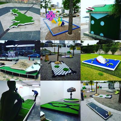 A look at art installation minigolf courses and crazy golf sculptures
