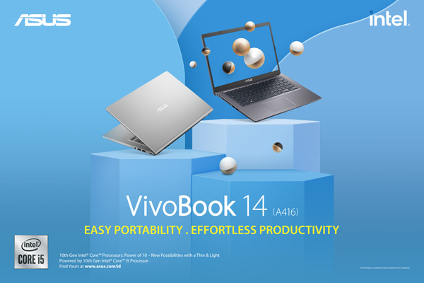 ASUS VivoBook 14 A416 - Easy Portability, Effortless Productivity