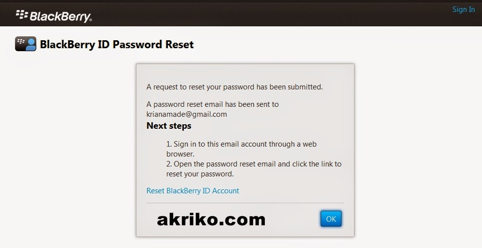 how to change your blackberry id email and password
