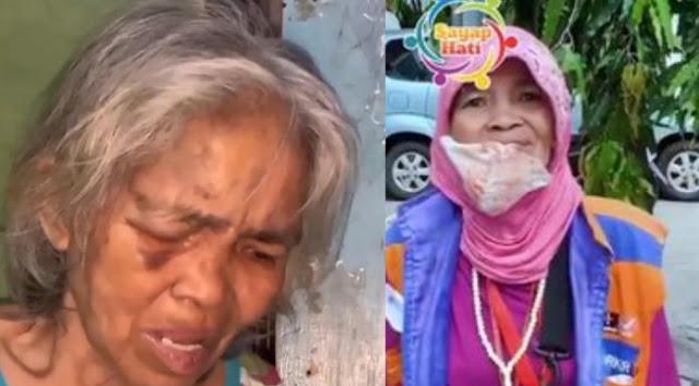 Kejam, Oknum Preman di Makassar Pukuli Nenek Juru Parkir Sampai Babak Belur