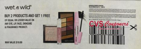 "B2GO Free Wet n Wild Eye, Lip, Face, Skin Coupon from ""SMARTSOURCE"" insert week of 6/30/19 (EXP: 7/28)"