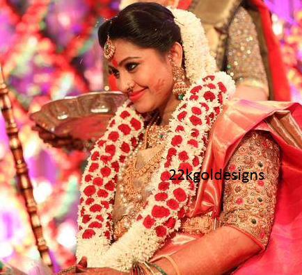 Actress Sneha Baby Shower Seemantham Function Jewellery
