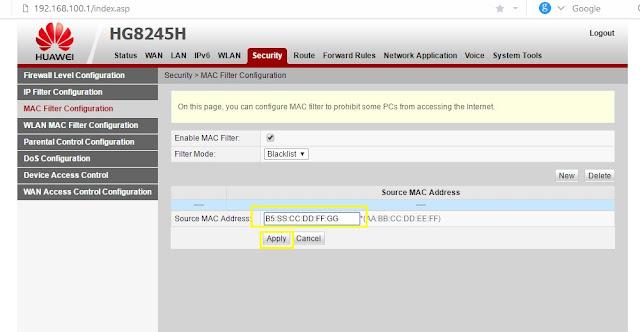 cara memblokir pengguna wifi indihome huawei cara blokir pengguna wifi indihome huawei hg8245h
