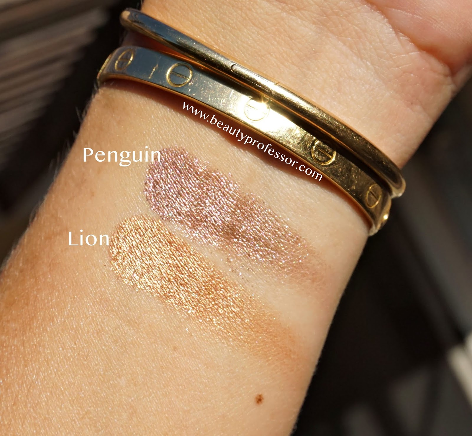 Chantecaille Luminescent Eye Shade swatches