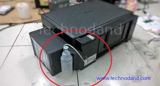Memasang Tabung Pembuangan Eksternal Printer Inkjet