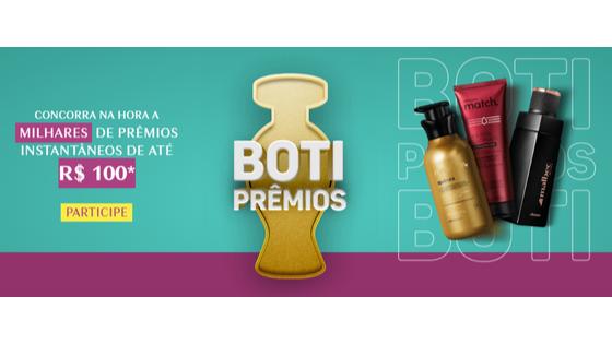 promoção Boti prêmios