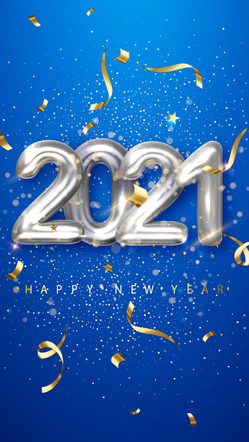 Wallpaper silver balloons happy new year 2021