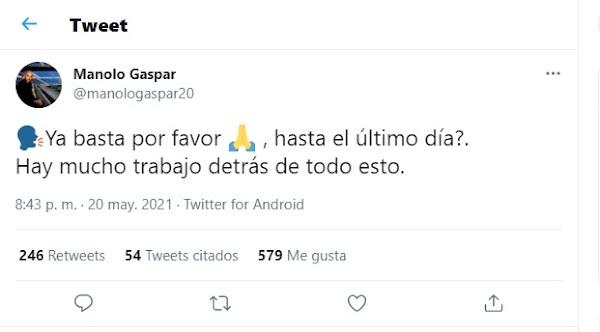 """Manolo Gaspar - Málaga - reacciona contra el arbitraje: """"Ya basta por favor"""""""