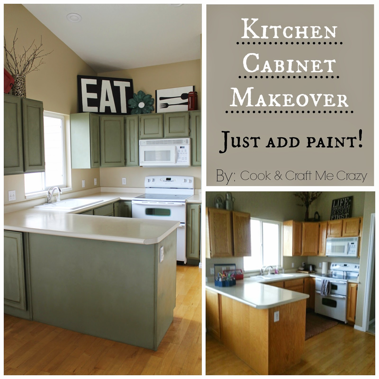 Cook And Craft Me Crazy: Kitchen Cabinet Makeover