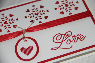 Valentine Card with Stampin' Up! Sealed with Love Stamp Set