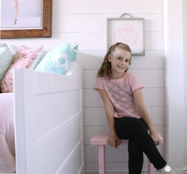 diy bench for tween girls room, mylove2create