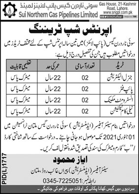 Sui Northern Gas Pipelines Limited SNGPL Govt Jobs 2020