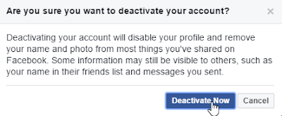 I Want To Deactivate My Facebook Account