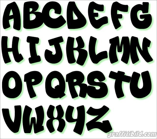 Graffiti buchstaben, alphabet, letters, graffiti schrift a-z
