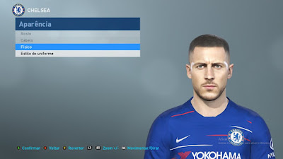 PES 2019 Faces Eden Hazard by Judas Facemaker