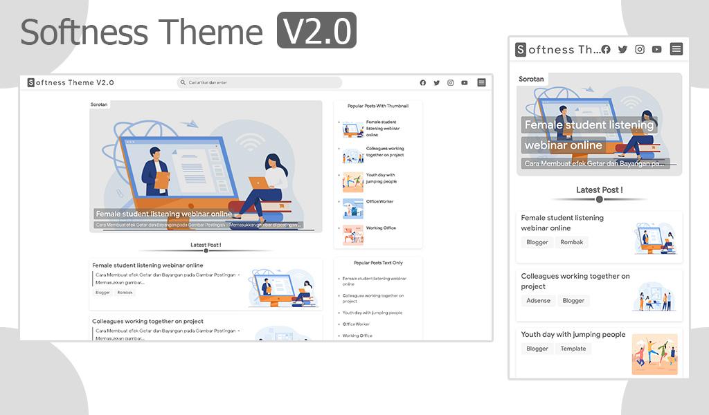 Softness Theme V2.0 Premium Blogger Template Download