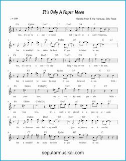 chord it's only a paper moon lagu jazz standar
