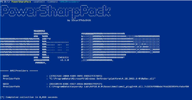 PowerSharpPack : Offensive CSharp Projects Wraped Into Powershell