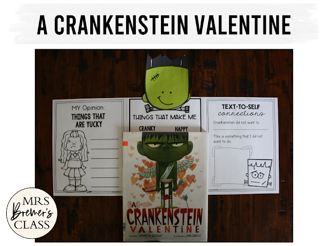 A Crankenstein Valentine Valentine's Day book study companion activities and craftivity Common Core literacy unit for K-1