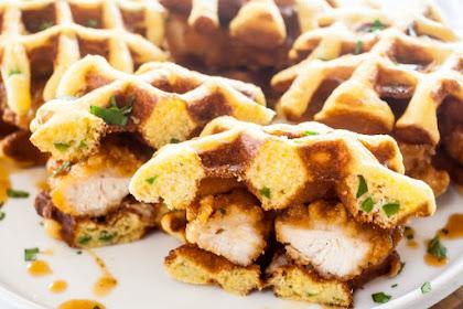 Chipotle Chicken Waffle Sliders