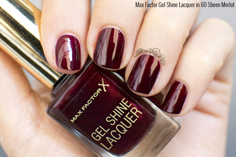 max factor gel shine lacquer 60 sheen merlot swatch