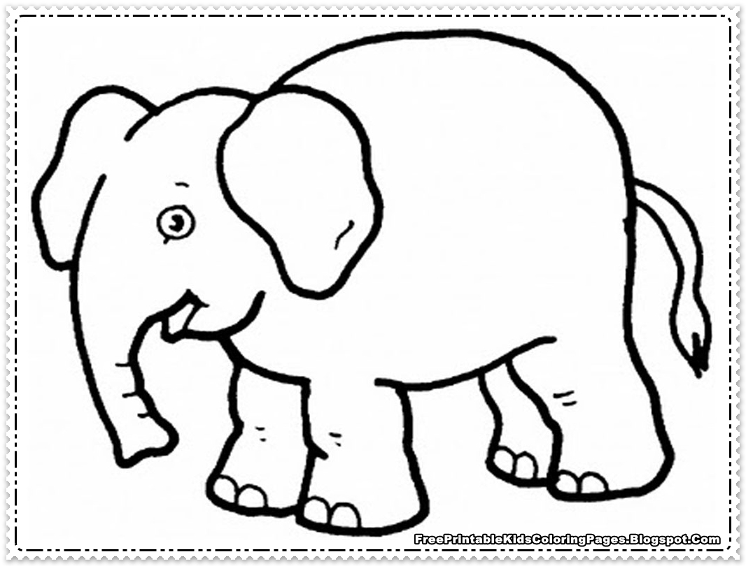 African Elephant Coloring Pages Baby