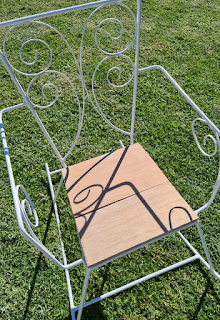 Retro wrought iron outdoor furniture restore DIY project tutorial