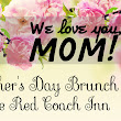Red Coach Inn: Mother's Day Brunch Buffet 2017