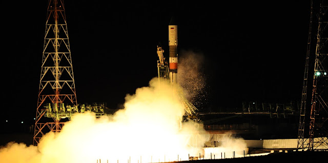 A Soyuz-U rocket launches with the Progress MS-03 spacecraft. Image Credit: RKK Energia