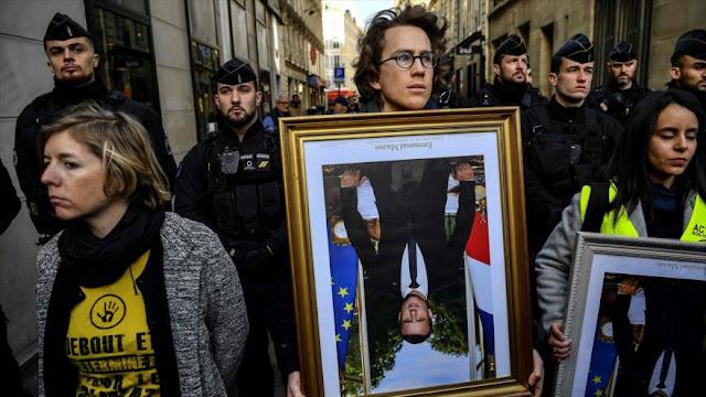 Franceses rechazan inacción de Macron ante cambio climatico