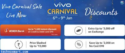 Vivo Carnival Sales at Amazon Brings discounts, Vivo U20, Vivo V17, and more No-Cost EMI Offers