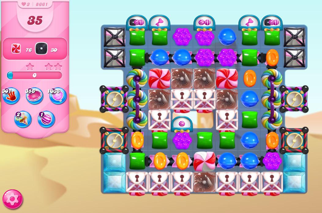 Candy Crush Saga level 8661