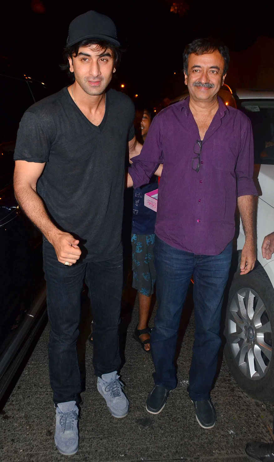 Ranbir Kapoor and Rajkumar Hirani Arrive at Birthday Party of Imtiaz Ali at The Korner House