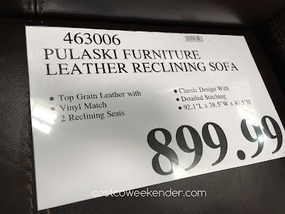 Deal for the Pulaski Leather Reclining Sofa at Costco