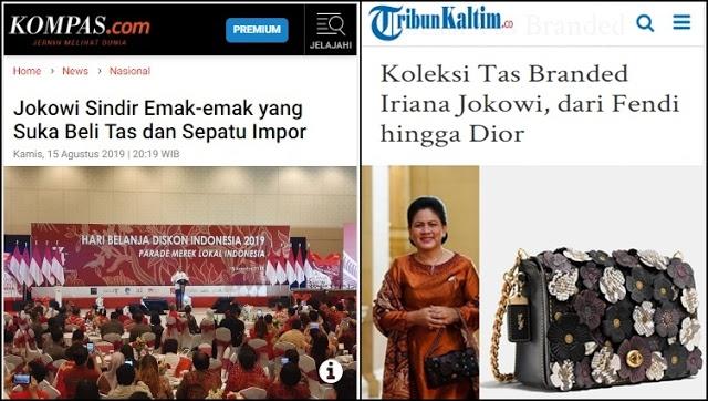 Jokowi Sindir Emak-Emak yang Suka Beli Tas Impor, Netizen Ungkap Koleksi Tas Branded Iriana