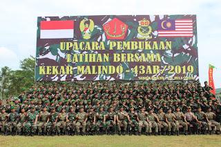 Danrem 121/Abw Buka Latma Kekar Malindo-43AB/2019 Indonesia - Malaysia